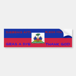 Bless Haiti bumper sticker