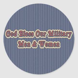 Bless Our Military Soldiers Round Sticker