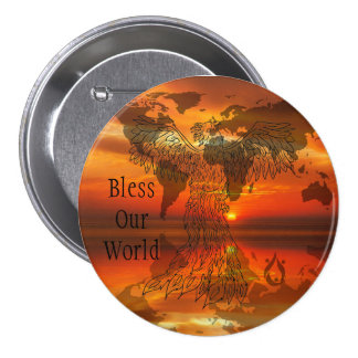 Bless Our World Voyager Large Button