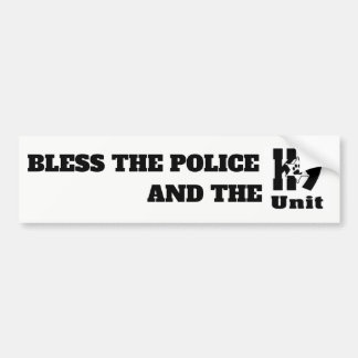 BLESS POLICE & THE K9 UNIT BUMPER STICKER