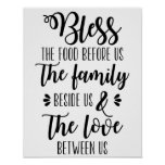 Bless The Food Before Us Family Poster