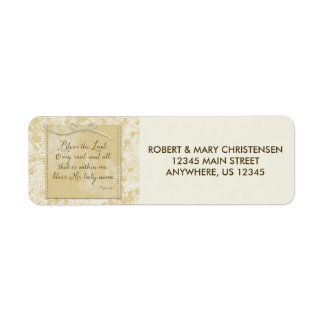 Bless the Lord O My Soul Return Address Label