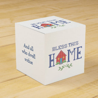 Bless This Home Cross Stitch Embroidery Favour Box