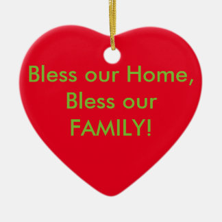 Bless this home ornament! Jesus is the reason! Ceramic Heart Decoration