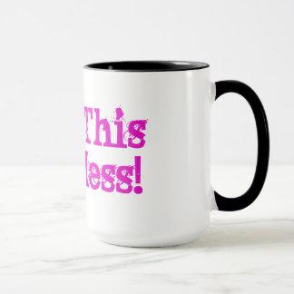 Bless This Hot Mess! Mug-Black Handle Mug