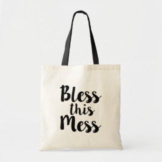 Bless this Mess funny women's bag