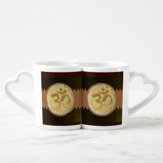 Bless with OM MANTRA Cups Religion Spirituality 07 Lovers Mug Set