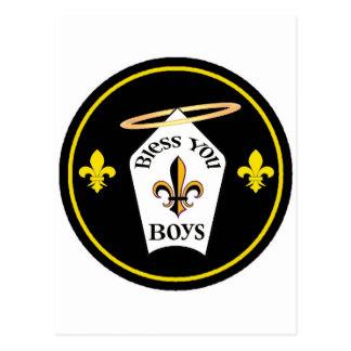 Bless You Boys Emblem Postcard