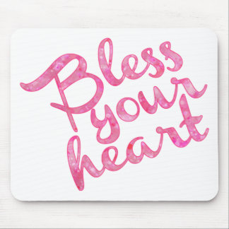 Bless Your Heart Pink Sparkle Mouse Pad