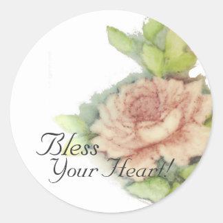 Bless Your Heart! Sticker-Cust. Round Sticker