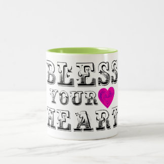 Bless Your Heart Two-Tone Coffee Mug
