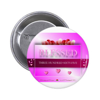 Blessed 6 Cm Round Badge