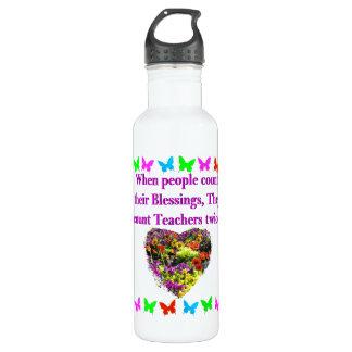 BLESSED AND INSPIRING TEACHER DESIGN 710 ML WATER BOTTLE