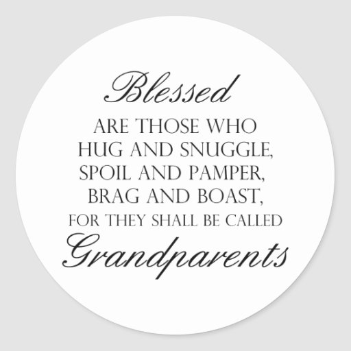Blessed Are... Grandparents Sticker