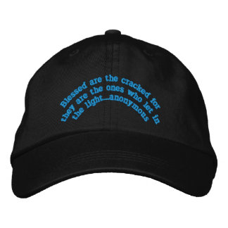 """Blessed are the cracked""Embroidered Hat"
