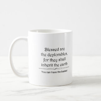 Blessed are the deplorables mug 1 in black
