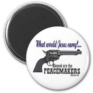 Blessed Are The Peacemakers 6 Cm Round Magnet