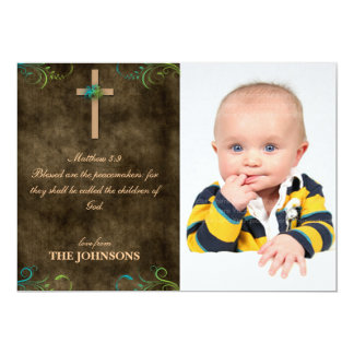 Blessed are the Peacemakers Christ Christian Personalized Invitation