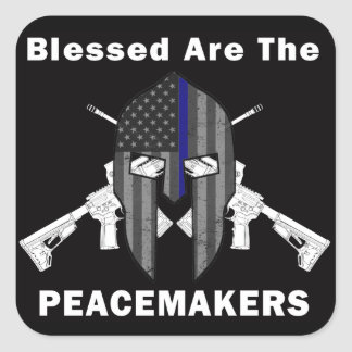 Blessed Are The Peacemakers Square Sticker