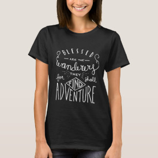 Blessed are the Wanderers Hand Lettered Women's T-Shirt