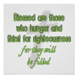 Blessed Are Those Who Hunger Poster