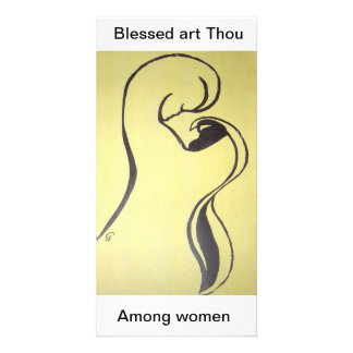 Blessed art Thou  Among women Photo Card Template