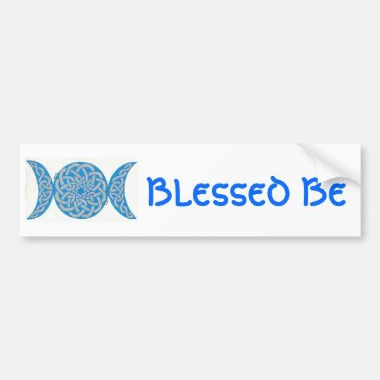Blessed Be Bumpersticker Bumper Sticker