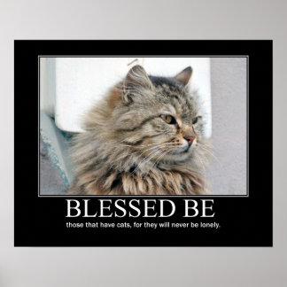 Blessed Be.. Cat Lover Artwork Poster