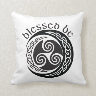 Blessed Be - Celtic Triple Moon Cushion