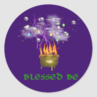 Blessed Be Classic Round Sticker