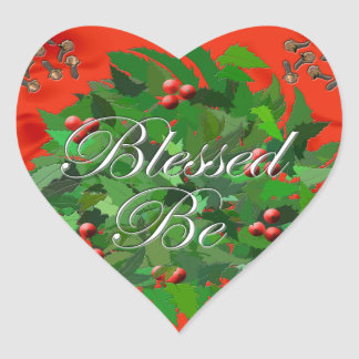 Blessed Be Heart Sticker