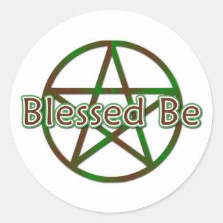Blessed Be Round Sticker