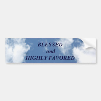 Blessed_ Bumper Sticker