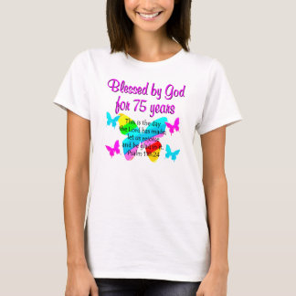 BLESSED BUTTERFLY 75TH BIRTHDAY DESIGN T-Shirt