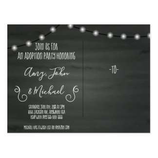 Blessed by Adoption Party Invitation Announcement Postcard