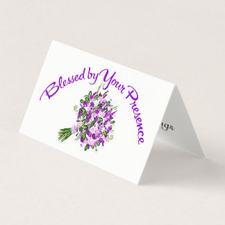 Blessed by Your Presence Folded Card