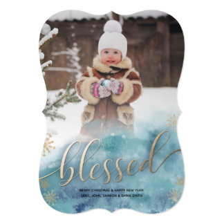 Blessed Christmas Photo Card