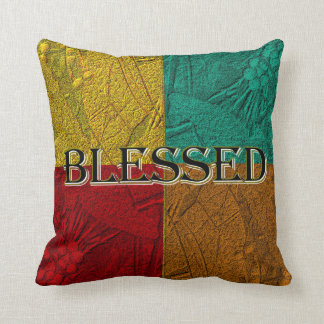 Blessed Colorblock Pillow