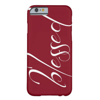 Blessed Deep Red Statement iPhone 6 case