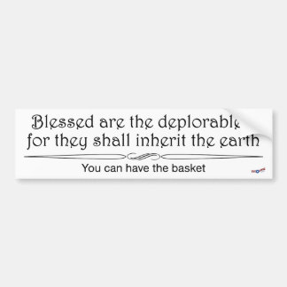 Blessed deplorables 1 sticker in black