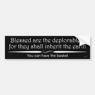 Blessed deplorables 1 sticker in white