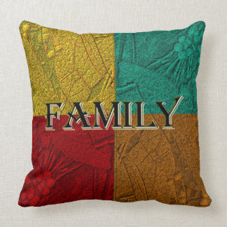 BLESSED FAMILY colorblock pillow
