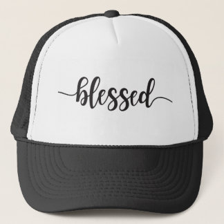 Blessed Fancy Calligraphy Trucker Hat