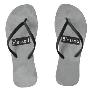 blessed. Full Print Customizable Thongs