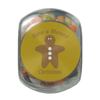 Blessed Gingerbread Man Glass Jars