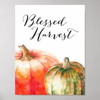 Blessed Harvest - Thanksgiving Poster