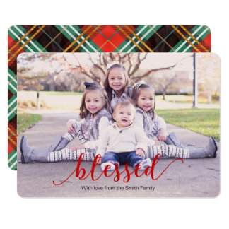 Blessed holiday greeting card, blessed christmas card