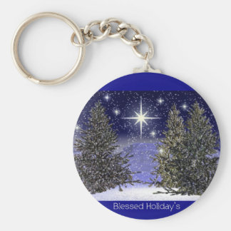Blessed Holidays Greetings Keychains