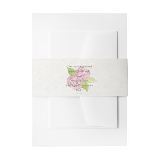 BLESSED & IMPORTANT ENOUGH TO ASK RECEIVE  FLORAL INVITATION BELLY BAND