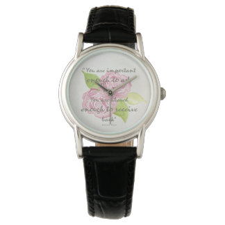 BLESSED & IMPORTANT ENOUGH TO ASK RECEIVE  FLORAL WRISTWATCHES